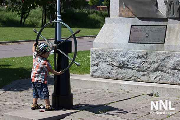 Combining fun and seeing some of our region's history, Darius checks out the Sailor's Monument at Kam River Park