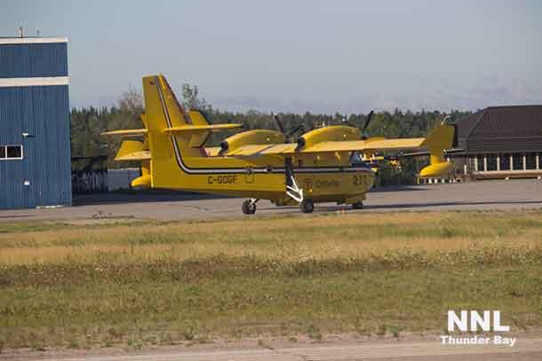 MNRF Aircraft at the Dryden Fire Base at the Dryden Municipal Airport