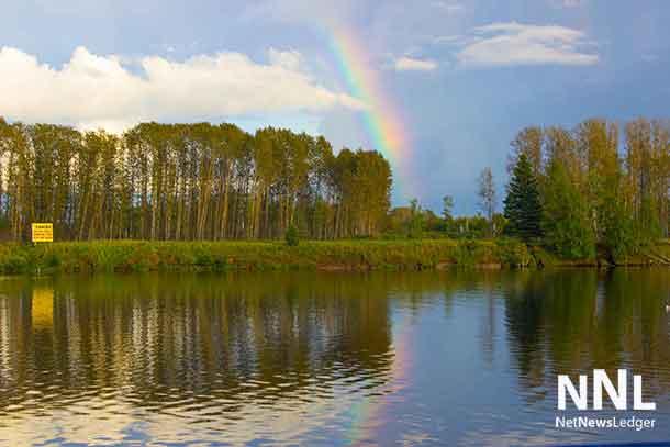Rainbow over the Kam River on September 17 2016