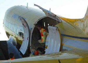 Unloading the North Star Air BT 67