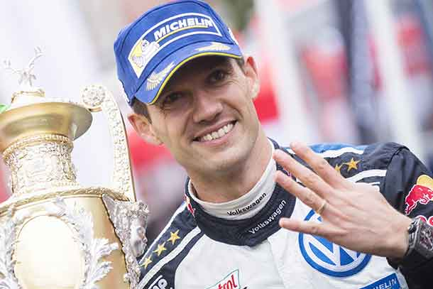 Sébastien Ogier led from start to finish to triumph at the Dayinsure Wales Rally GB