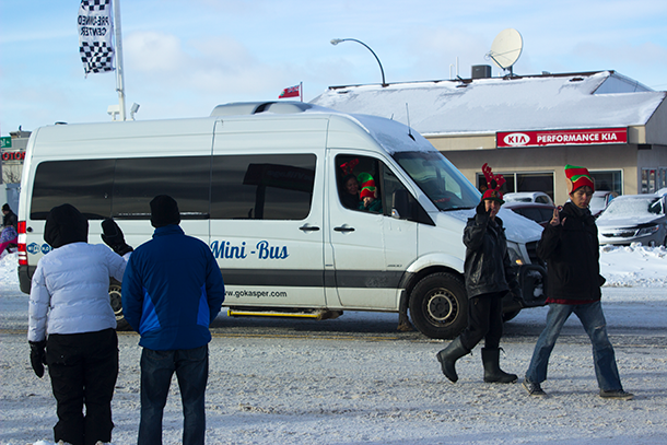 Our parade coverage was broadcast live from our location on Memorial Avenue at the Kasper Mini-Bus offices