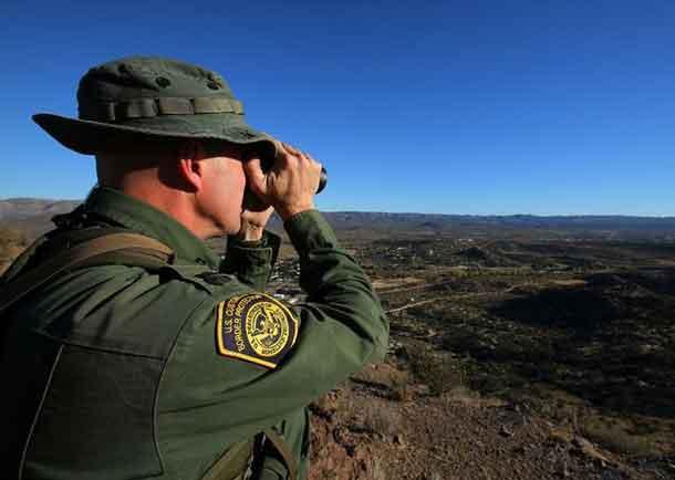 U.S. Border Patrol supervisor Bobby Stine looks out over his station's patrol area atop a hill near Jacumba, California, U.S., November 14, 2016. REUTERS/Mike Blake