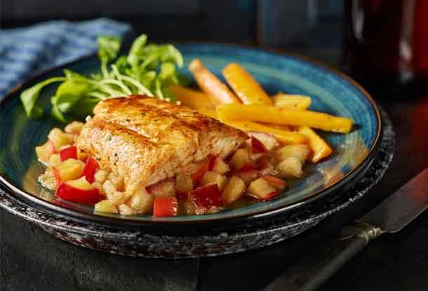 Pan fried Pickerel