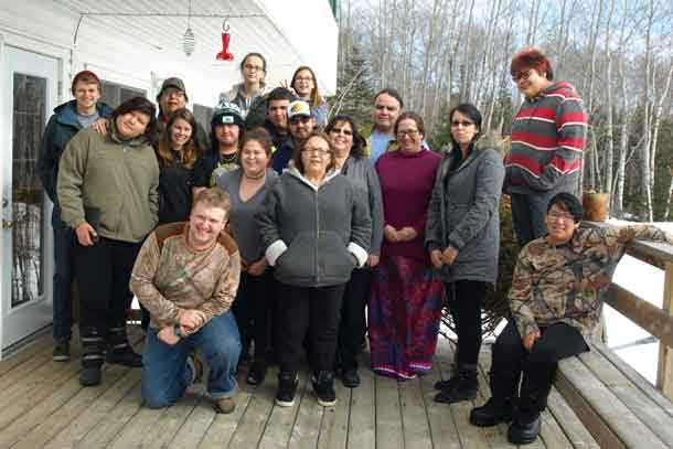 TRADITIONAL AND CULTURAL TEACHINGS were provided to a senior Wabun Youth Gathering at J & L Resort near Gogama, from February 20 to 24, 2017.