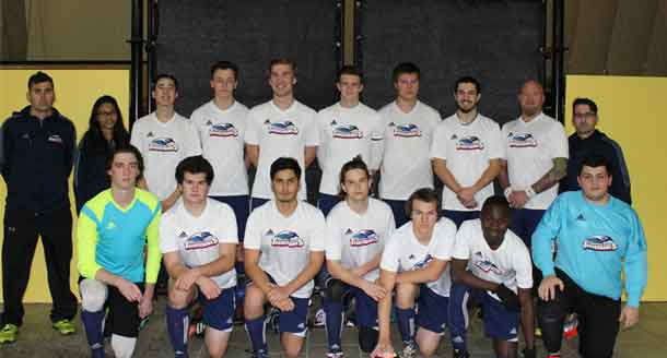 The Confederation College Thunderhawks Men's Indoor Soccer Team 2016-17, advances to the OCAA Provincial Championships.