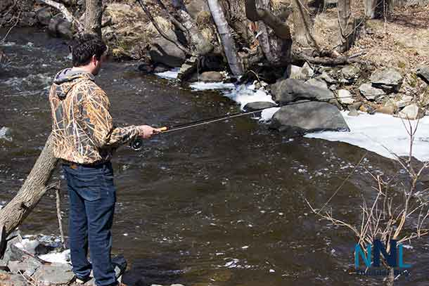 Fishing on McVicar's Creek