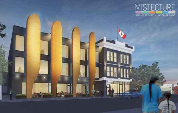Architect's rendering of the Merchants Corner development on Selkirk Avenue.
