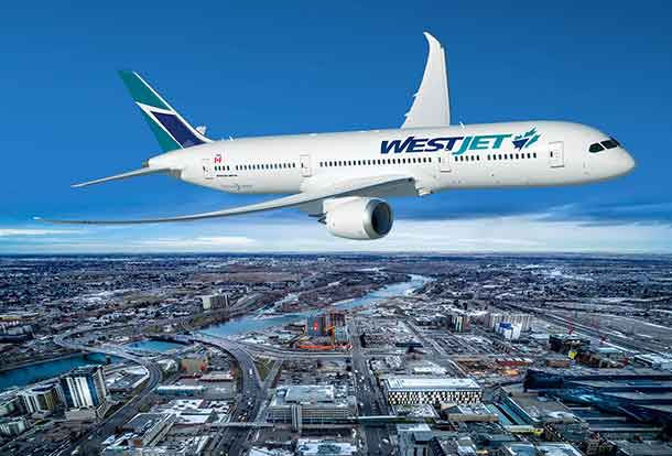 WestJet to purchase Boeing 787-9 Dreamliners