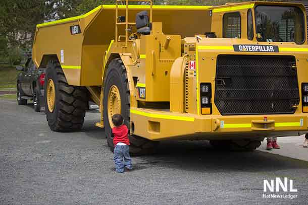 Nation explores the real thing a Caterpillar Mining Vehicle.