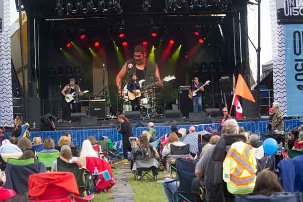 Midnight Shine Rocking the Stage in Thunder Bay at Marina Park
