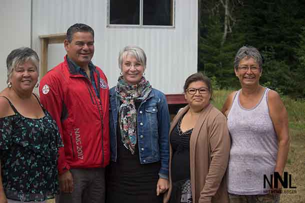ORC and Minister Hajdu with Chief Nelson in AZA FN (Lake Nipigon First Nation)