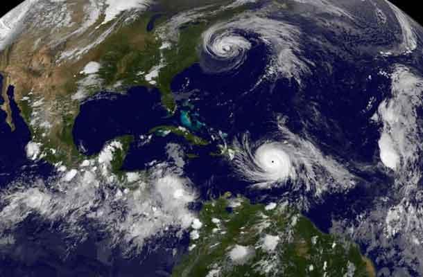 Hurricane Maria is seen in the Atlantic Ocean in this NOAA's GOES East satellite image taken on September 19, 2017. Courtesy NASA/NOAA GOES Project/Handout via REUTERS