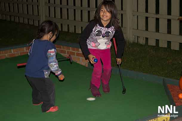 Fun for the kids at the Mini Putt