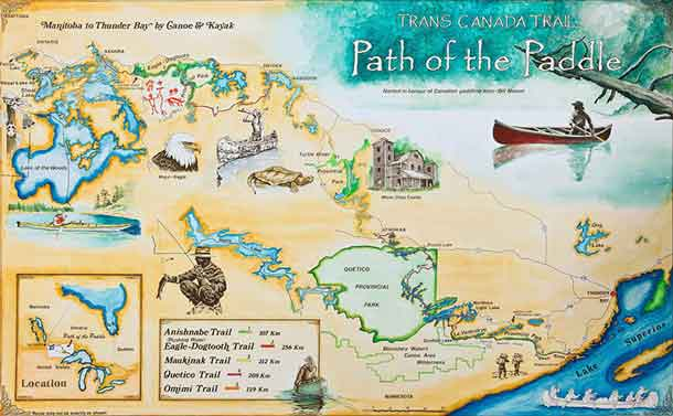 Paddle to the Sea Map
