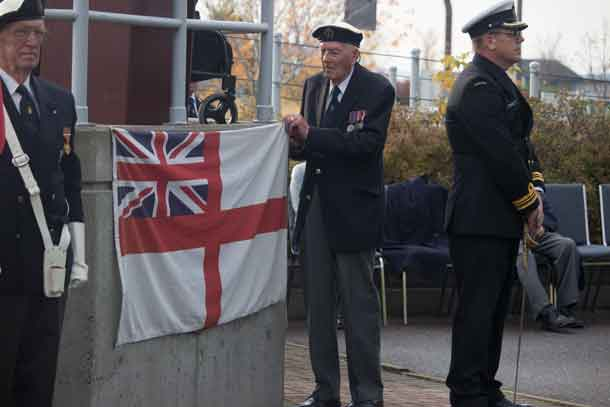 Unvelling of Naval Monument Rededication Plaque at Marina Park in Thunder Bay