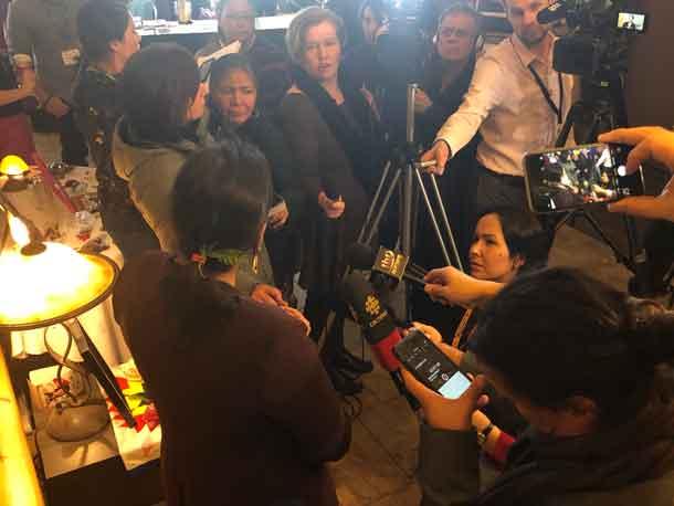 MMIWG Commissioner Audet addresses the media