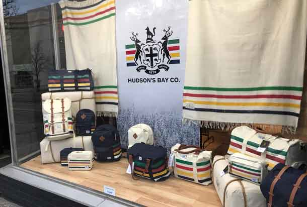 A little of the history with a Hudson's Bay Company display at Mars in the Waterfront District