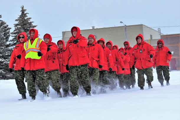 Rangers learned how to march in military formations. - Image Sgt Peter Moon