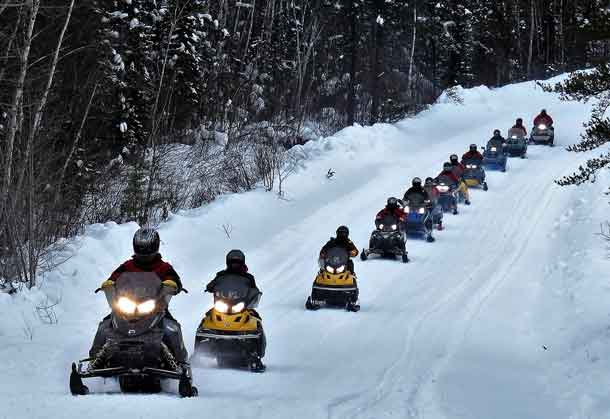 Most Rangers travelled by snowmobile during the exercise. Photo by Sgt. Peter Moon