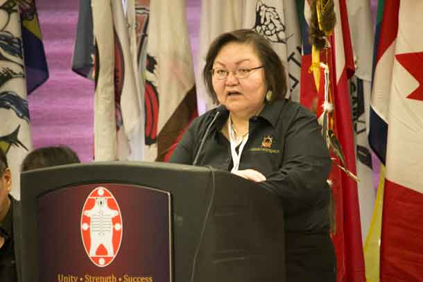 Rosie Mosquito the Executive Director at the Oshki Wenjack Education