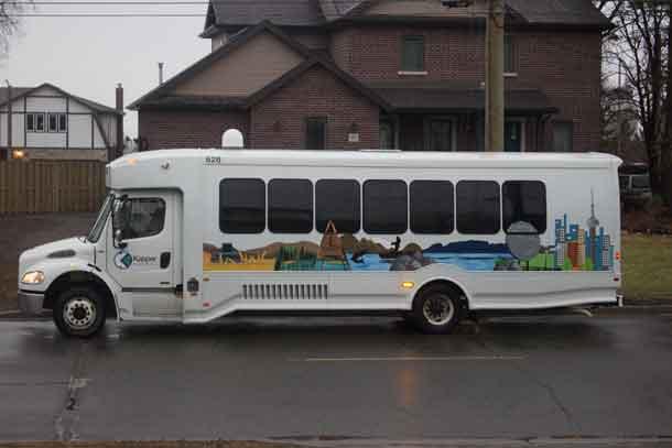 The newest bus in the Kasper Transportation fleet