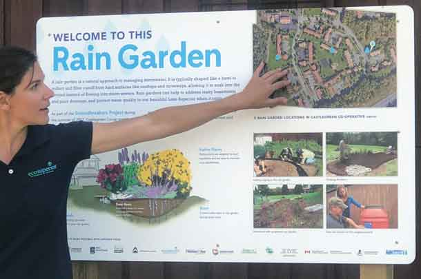 The importance of capturing and holding rainwater in Castlegreen was explained by Julie from EcoSuperior