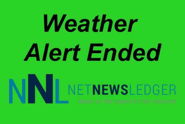 Weather Alert Ended