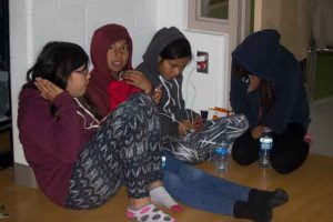 Young people enjoying the Internet and fellowship