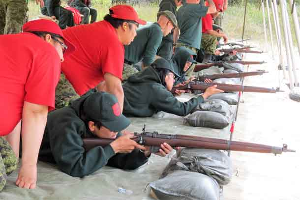 Learning to shoot accurately and safely is a top priority at the camp.