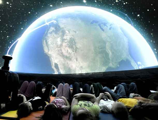 The Dark Sky Caravan inflatable planetarium - Credit UMD
