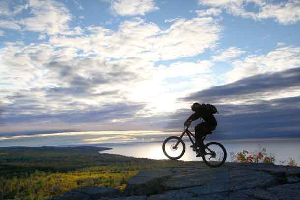 Biking in Cook County Minnesota - photo credit Visit Cook County