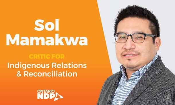 Sol Mamakwa MPP Kiiwetinoong