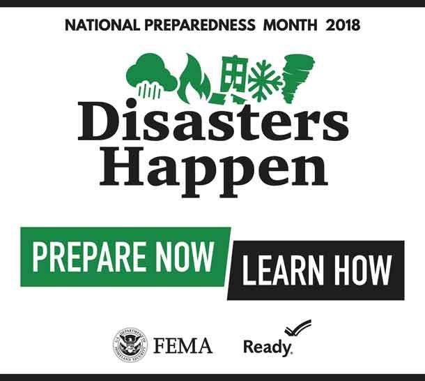 2017 National Preparedness Month Logo