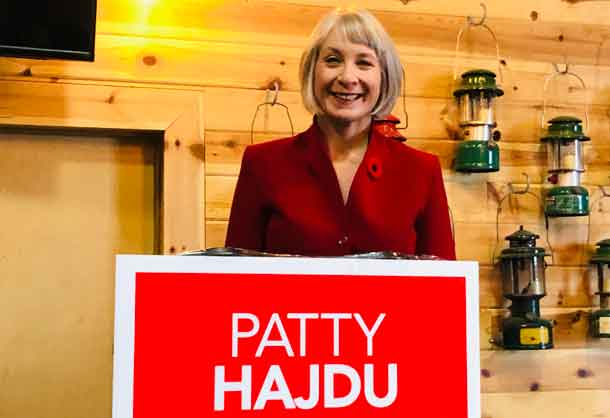 Thunder Bay Superior North MP Patty Hajdu is seeing re-election