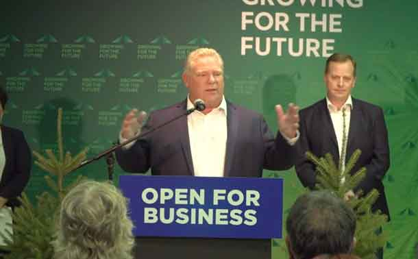 Premier Doug Ford at Resolute Forest Products in Thunder Bay