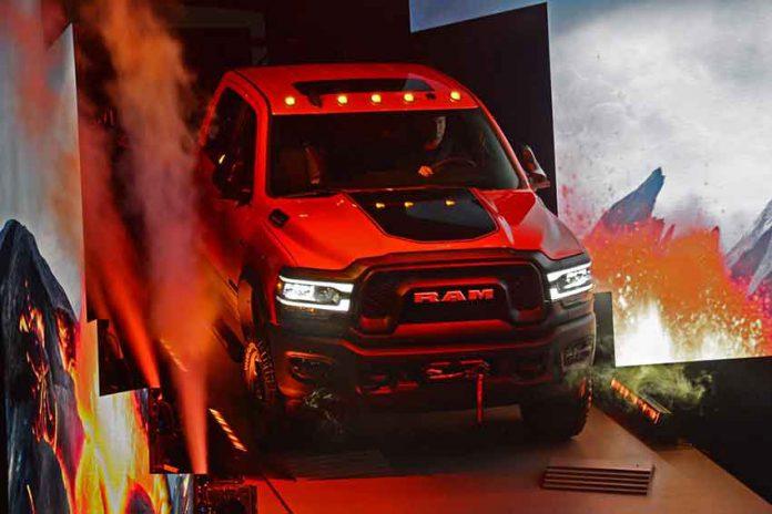 New pick up trucks on display at Detroit International Auto Show