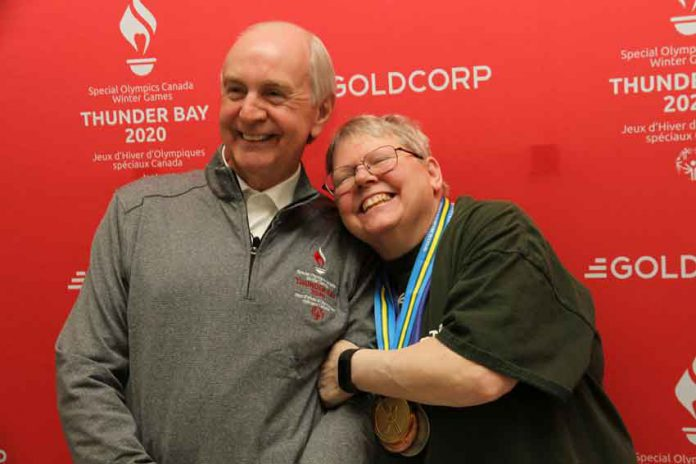 GOC Chair Barry Streib with Athlete Ambassador Yvette Degagne