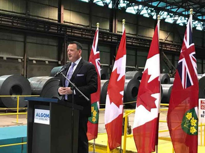 Minister Greg Rickford announces $60 million in a repayable loan to Algoma Steel