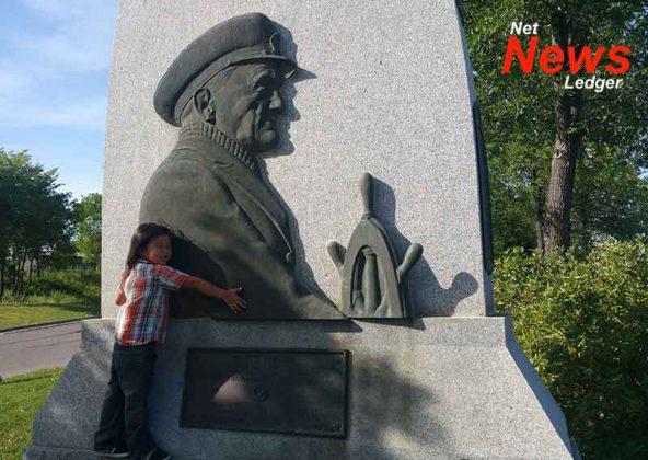 Sailors Memorial at Kam River Park Summer