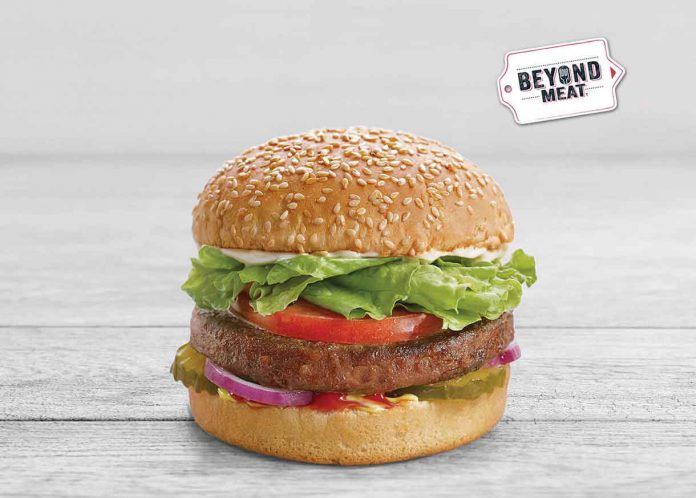 A&W kicked off their beyond meat burgers early in the game