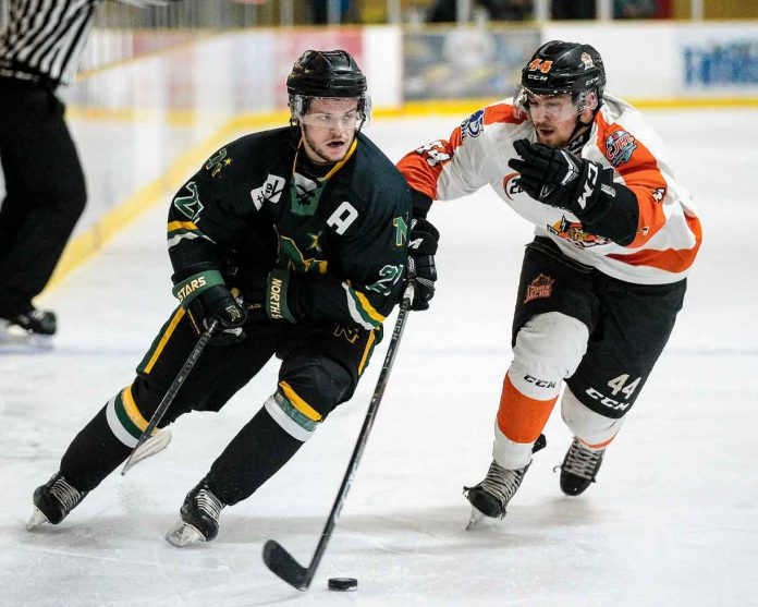 Thunder Bay North Stars fell to the Hearst Lumberjacks