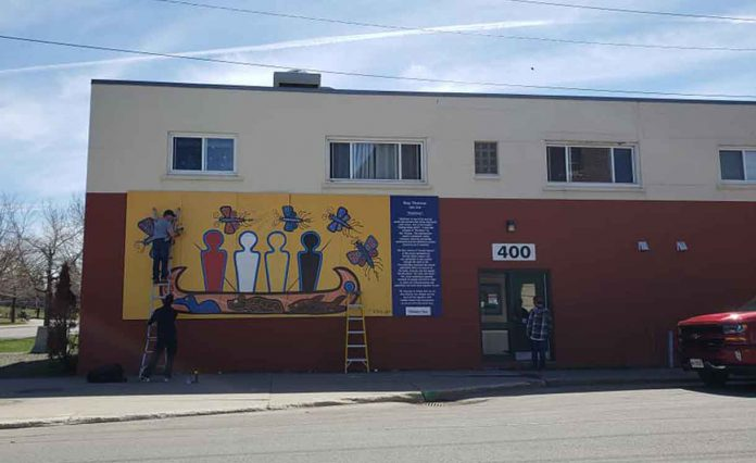 Woodland Mural by Roy Thomas at the Shelter House has been restored