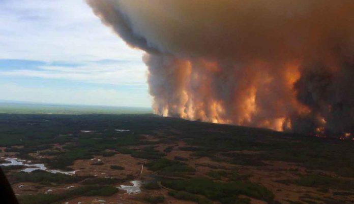 Wildfire near High Level in Northwest Alberta