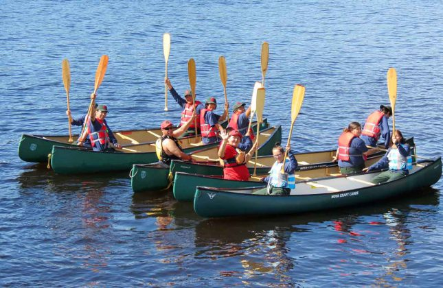 Camp Loon's boat training stresses the importance of safety around water.
