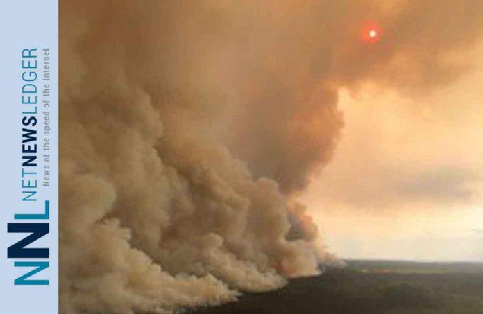 Wildfire near Pikangikum