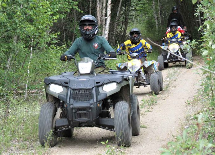 A highlight of the ATV training is a challenging cross country ride. - Photo Sgt Peter Moon Canadian Rangers