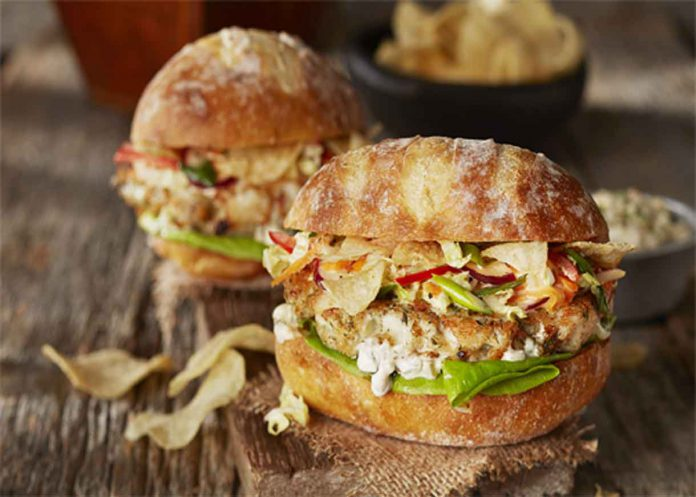 A tasty treat from Woodland Ontario - Smashed Walleye Burgers