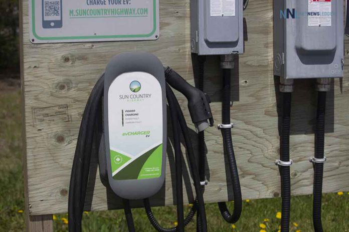 Sun Country electric Vehicle Plug in Station in Nipigon