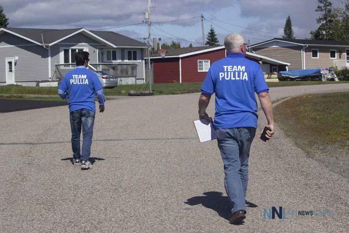 Members of Team Pullia on the campaign trail in Terrace Bay